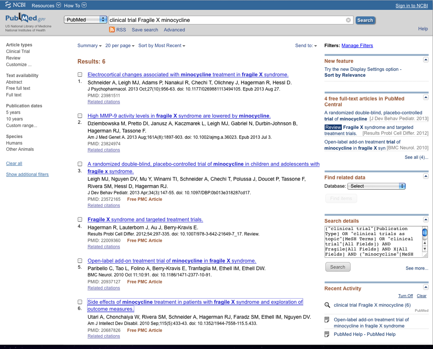 img2-2 Pubmed - clinical trial Fragile X minocycline - Screen shot 2015-04-17 at 4.35.16 PM